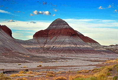 Mountain Of Color - Painted Desert  002 Art Print by George Bostian