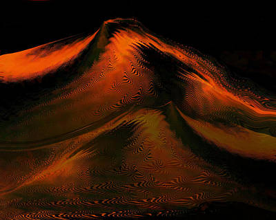Digital Art - Mountain Of Fire by rd Erickson