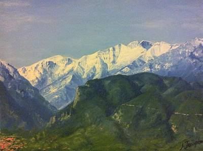 Olympus Painting - Mountain Olympus Greece by Alexandros Tsourakis