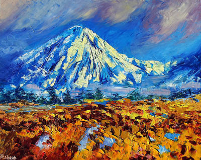 Mountain Painting Fine Art By Ekaterina Chernova Art Print