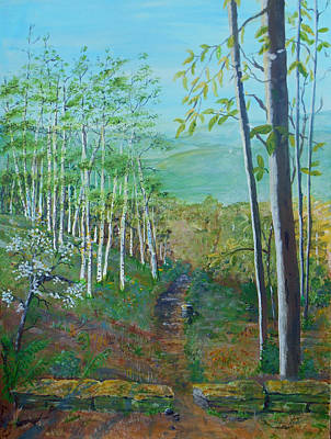 Mountain Path Art Print by Christine Lathrop