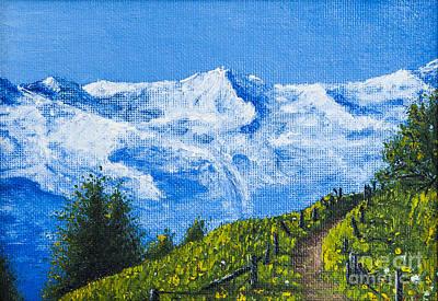 Canyon Mixed Media - Mountain Path by Svetlana Sewell