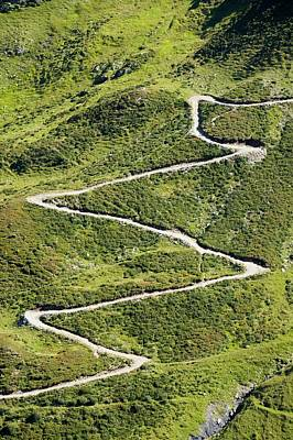 Francs Photograph - Mountain Path Up To The Col Du Balme by Ashley Cooper