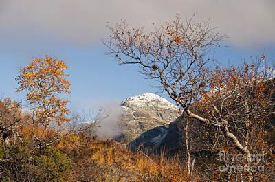 Sun Photograph - Mountain Peak by Gry Thunes