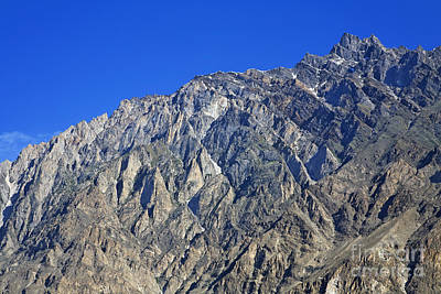 Mountain Peak Of The Hunza Valley Art Print by Robert Preston