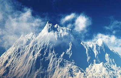 Rocky Digital Art - Mountain Peaks by Aleksey Tugolukov