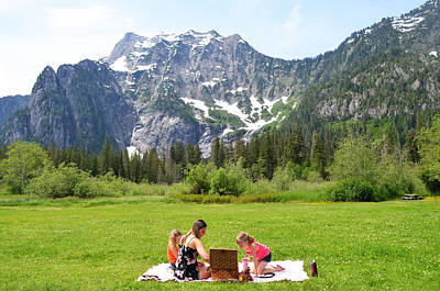 Photograph - Mountain Picnic by Kelly Reber