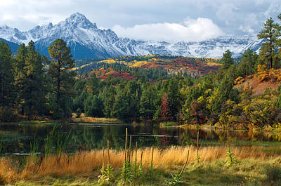 Photograph - Mountain Pond At Sneffels by John Hoffman