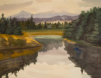 Painting - Mountain Pool by Peggy Poppe