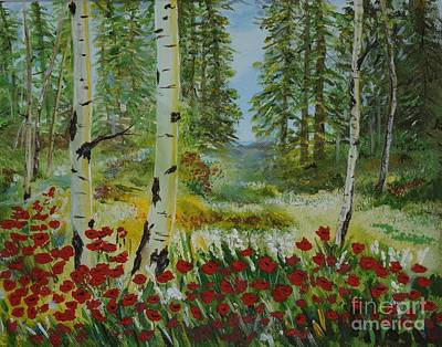 Painting - Mountain Poppies by Leslie Allen
