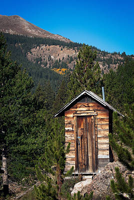 Old Outhouse Photograph - Mountain Privy by Julie Magers Soulen
