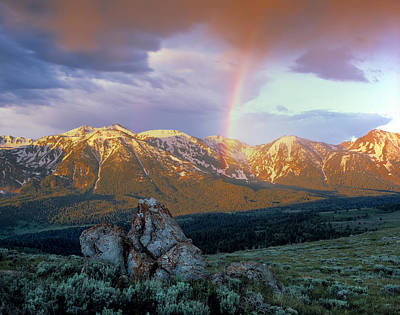 Photograph - Mountain Rainbow by Leland D Howard