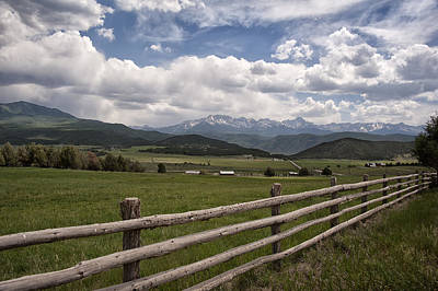Photograph - Mountain Ranch by Melany Sarafis