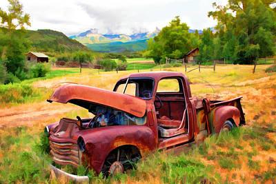 Mountain Ranch Truck Art Print