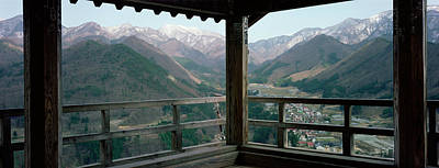 Japan Town Photograph - Mountain Range From A Balcony by Panoramic Images