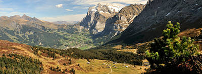 Grindelwald Photograph - Mountain Range, Grindelwald, Kleine by Panoramic Images