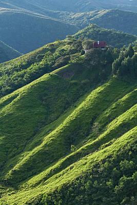 Tranquil Mountaintop Photograph - Mountain Range Near Samaipata by Carl Bruemmer