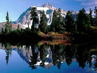 Faa Artist Drawing - Mountain Reflection by Cole Black