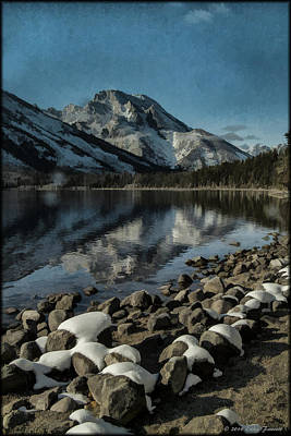 Photograph - Mountain Reflection by Erika Fawcett