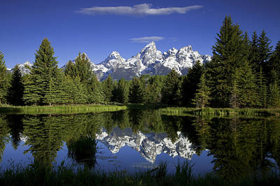 Reflecting Photograph - Mountain Reflections by Andrew Soundarajan