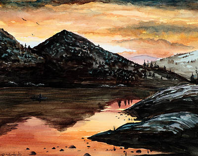 Painting - Mountain Reflections by Richard Mordecki