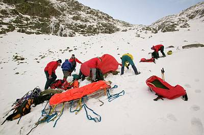 Scree Photograph - Mountain Rescue Team by Ashley Cooper