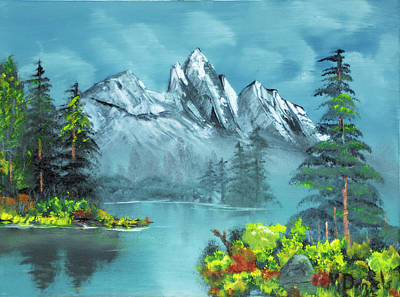 Art Print featuring the painting Mountain Retreat by Michael Daniels