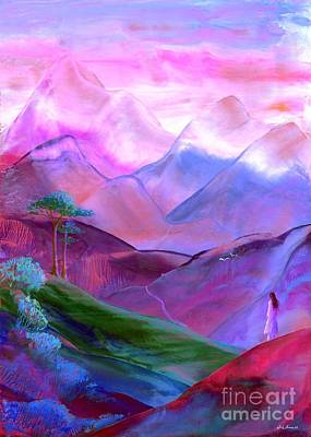 Bright Pink Painting - Mountain Reverence by Jane Small