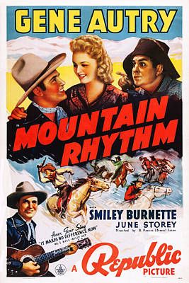 Autry Photograph - Mountain Rhythm, Top L-r Gene Autry by Everett