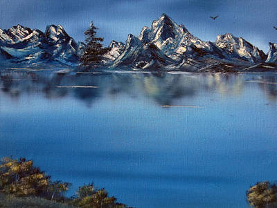 Cynthia-adams-uk Painting - Mountain Ridge Horizon by Cynthia Adams