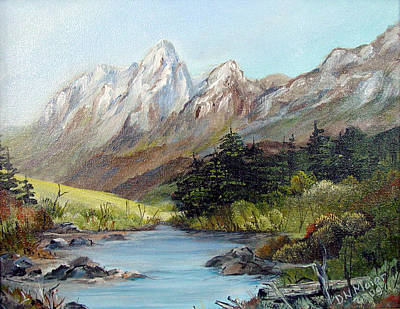Mountain River Art Print by Dorothy Maier