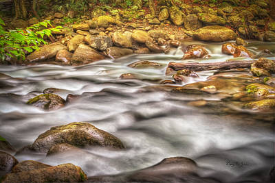 Photograph - Mountain River-hdr by Barry Jones