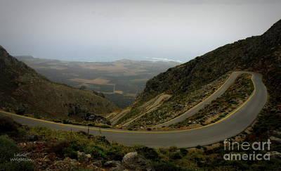 Mountain Road Crete Art Print by Lainie Wrightson
