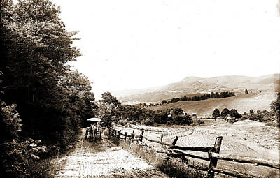 Mountain Road In The Berkshires, Roads, Mountains Art Print by Litz Collection