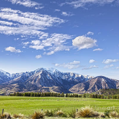 Canterbury Wall Art - Photograph - Mountain Scenery Canterbury New Zealand by Colin and Linda McKie