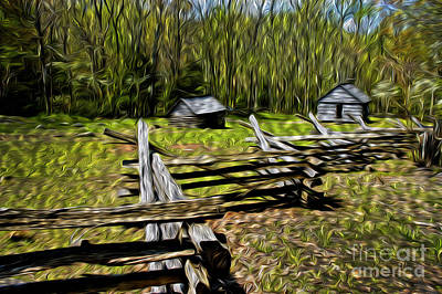 Split Rail Fence Photograph - Mountain Settlement by Paul W Faust -  Impressions of Light