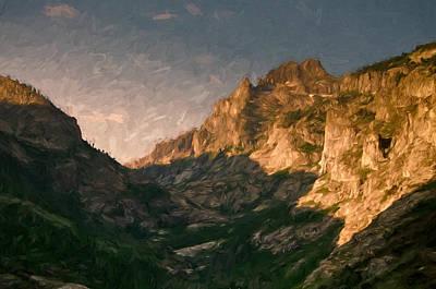 Tree Mixed Media - Mountain Shadows by John K Woodruff