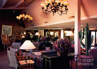 Photograph - Mountain Shadows Lobby. Scottsdale Arizona 1993 by Connie Fox