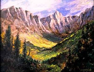 Painting - Mountain Shadows by Marilyn McMeen Brown