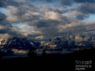 Mountain Silhouette Art Print by Greg Patzer