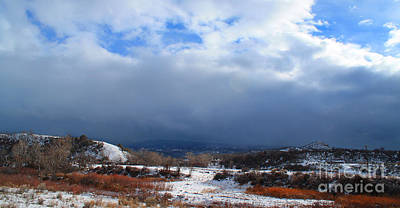 Photograph - Mountain Snow Coming  by Roena King
