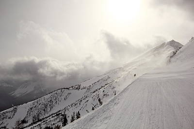 Photograph - Mountain Snow Storm Approaching Ski Run by Simply  Photos