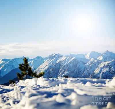Shadows Photograph - Mountain Snowy Winter Scenery by Michal Bednarek