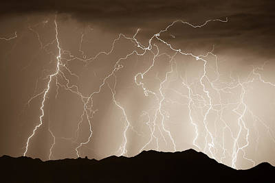 Photograph - Mountain Storm - Sepia Print by James BO Insogna