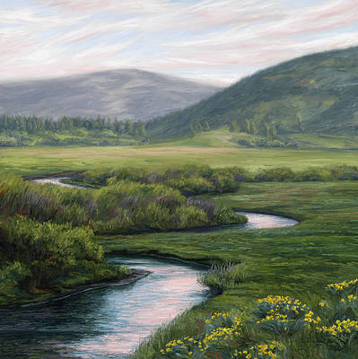 Mountain Stream Wall Art - Painting - Mountain Stream 1 by Lucie Bilodeau
