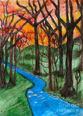 Painting - Mountain Stream by Anita Lewis