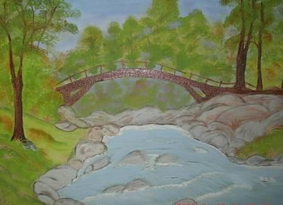 Smokey Mountains Painting - Mountain Stream by Bettie Herrell