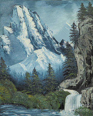 Bob Ross Painting - Mountain Stream by Dave Atkins