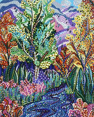 Tree Painting - Mountain Stream by Erika Pochybova