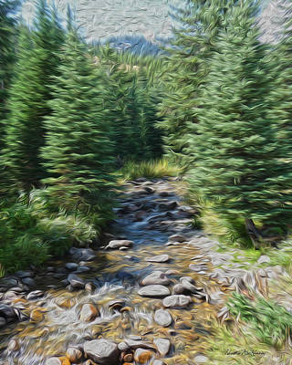 Brook Photograph - Mountain Stream by Heather MacKenzie